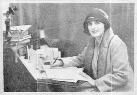 Rebecca West at Writing desk